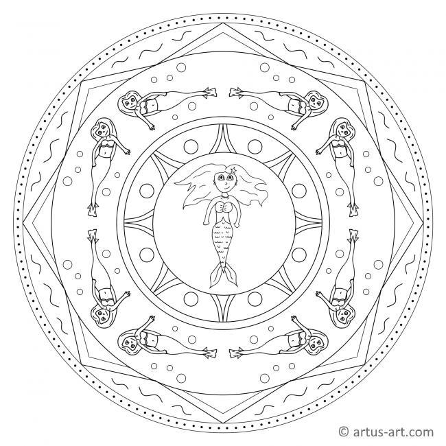 Wasserjungfrau Mandala