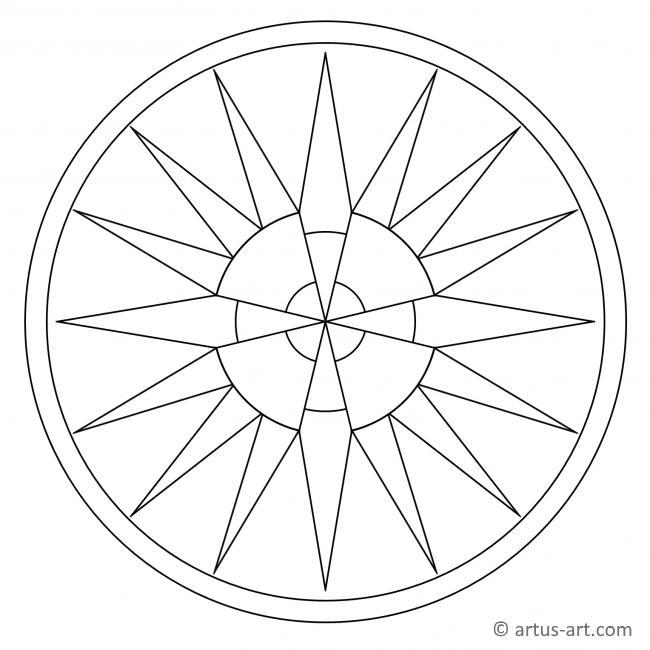 Abstrakte Sonne Mandala