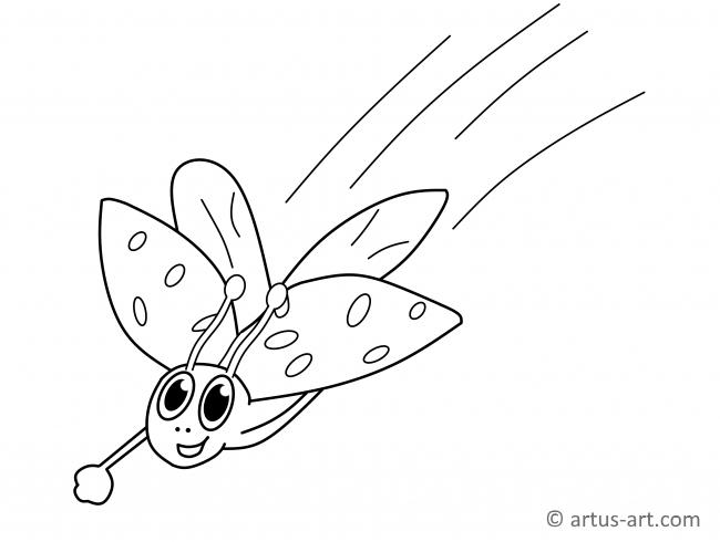 Lady Beetle Coloring Page