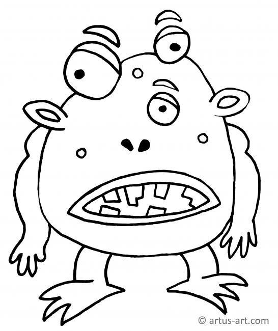 Ekliges Monster Ausmalbild