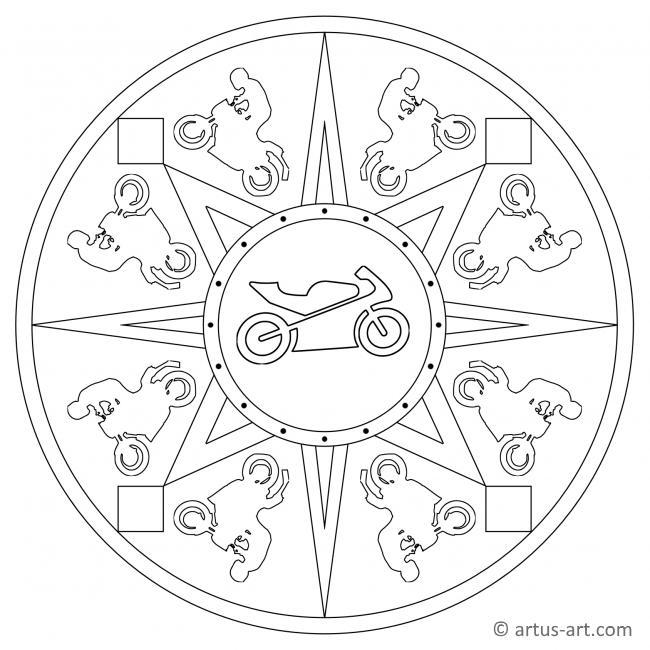 Motorrad Mandala