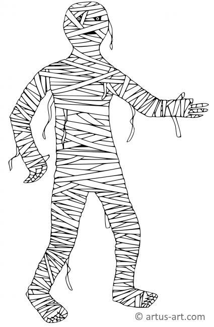 mumie ausmalbild » gratis ausdrucken  ausmalen » artus art