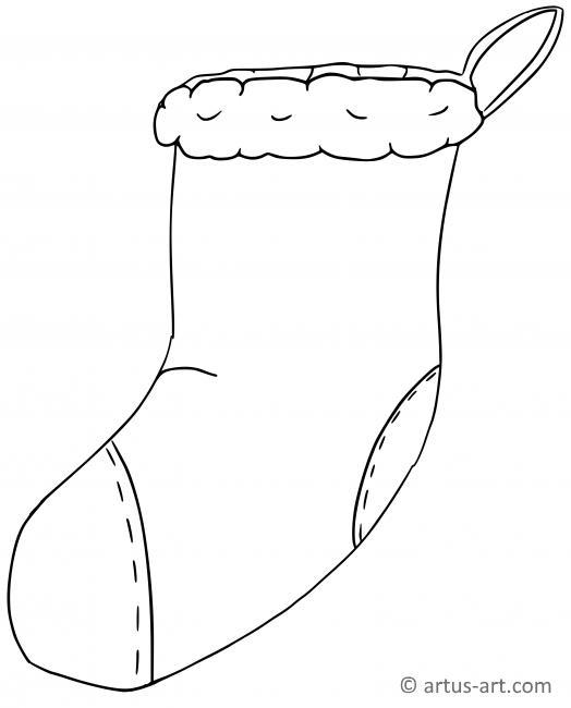 Christmas Sock Coloring Page