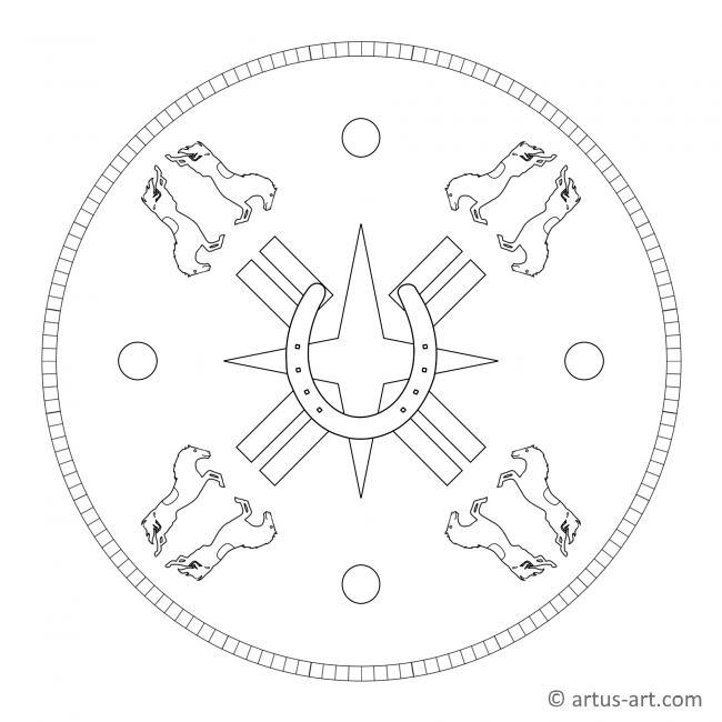 Hufeisen Mandala Gratis Ausdrucken Ausmalen Artus Art