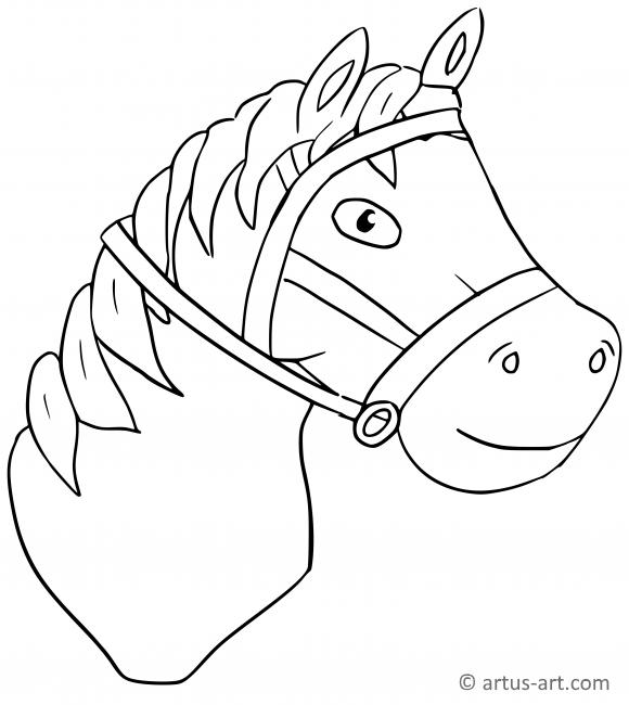 pferdekopf ausmalbild » gratis ausdrucken & ausmalen