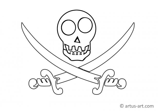 Pirate Ensign Coloring Page