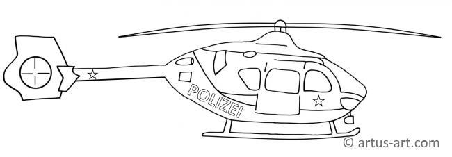Polizeihelikopter Ausmalbild