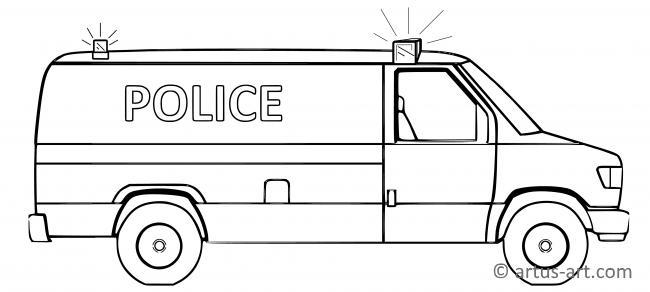 Polizeiwagen Ausmalbild Gratis Ausdrucken Ausmalen Artus Art