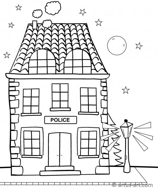 Polizeiwache Ausmalbild