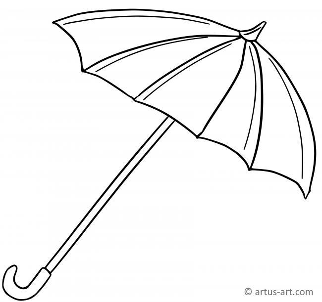 Regenschirm Ausmalbild