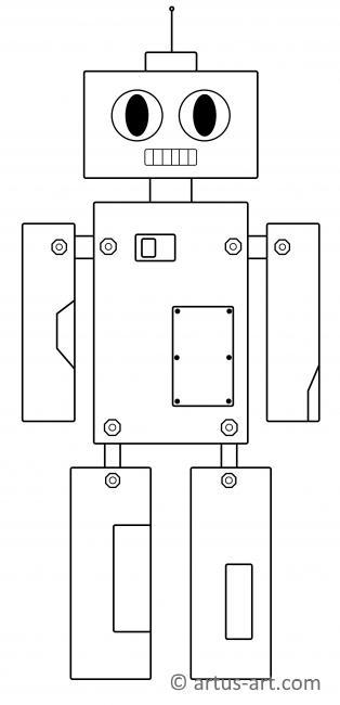 roboter malvorlagen zum ausdrucken deutsch  x13 ein bild