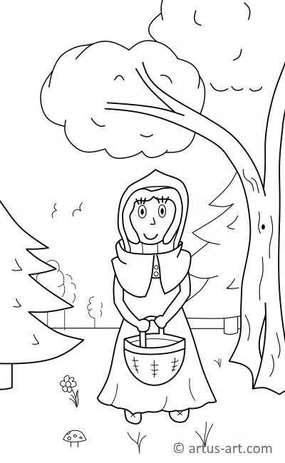 Little Red Riding Hood Coloring Page