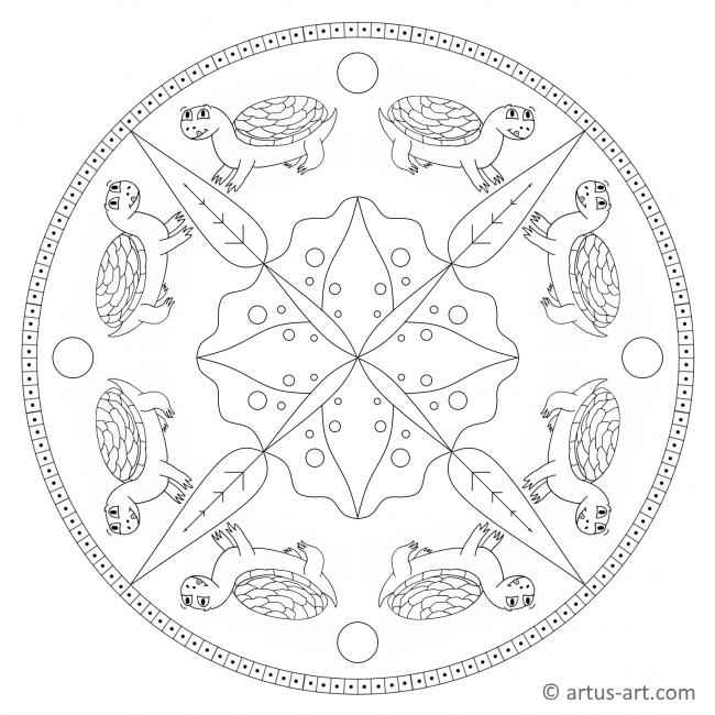 Fröhliche Schildkröte Mandala