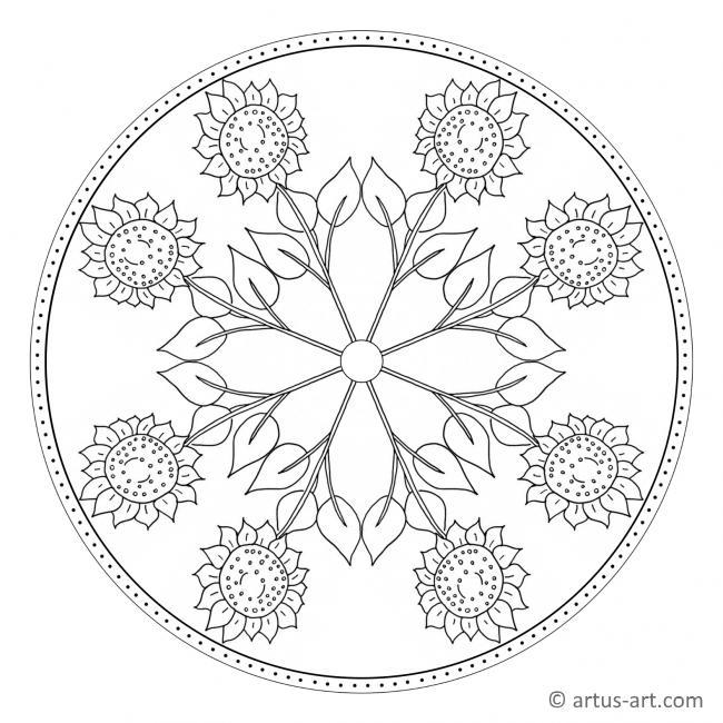 Sonnenblumen Mandala