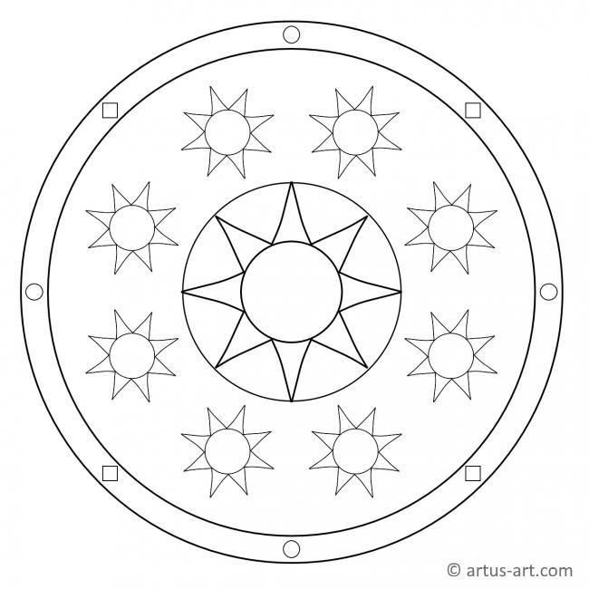 Klassische Sonne Mandala