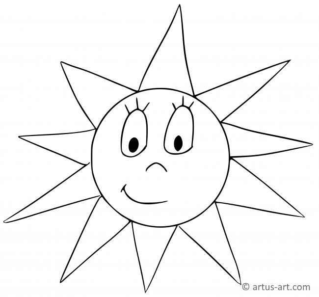 Sonne Ausmalbild » Gratis Ausdrucken & Ausmalen » Artus Art