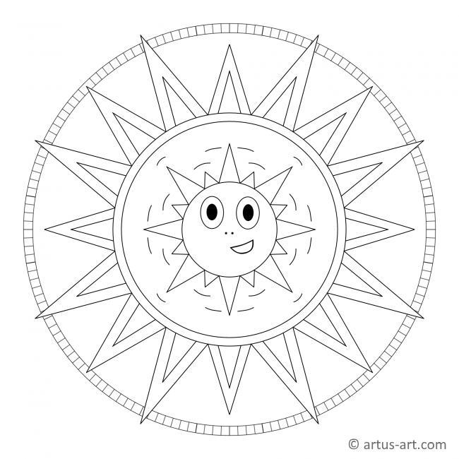 Sonnenschein Mandala mit Gesicht