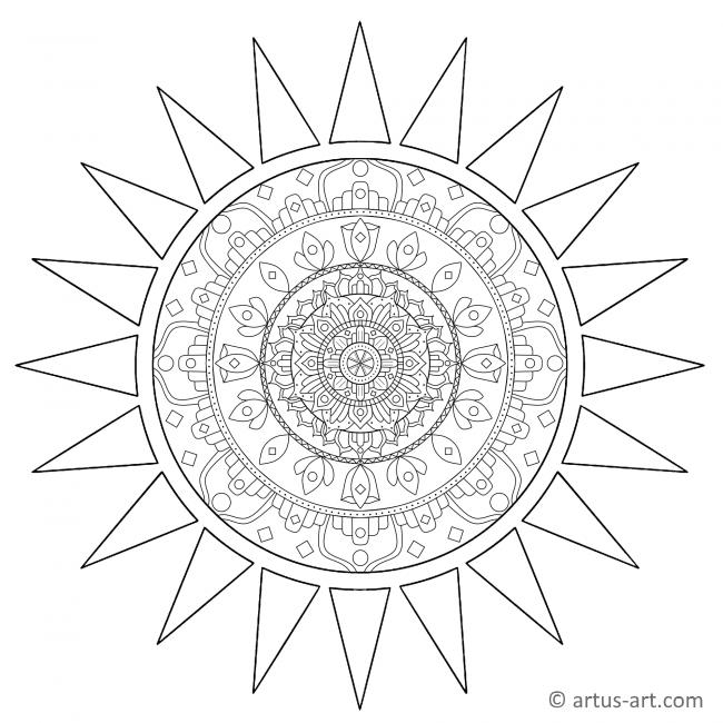 Sun Shape Mandala