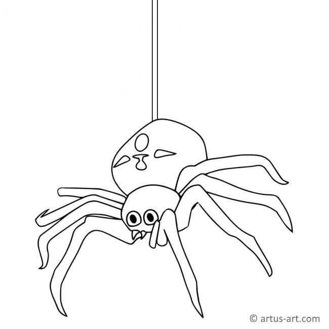 Spinne Ausmalbild Gratis Ausdrucken Ausmalen Artus Art