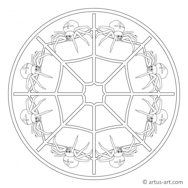 Spinnen Mandala