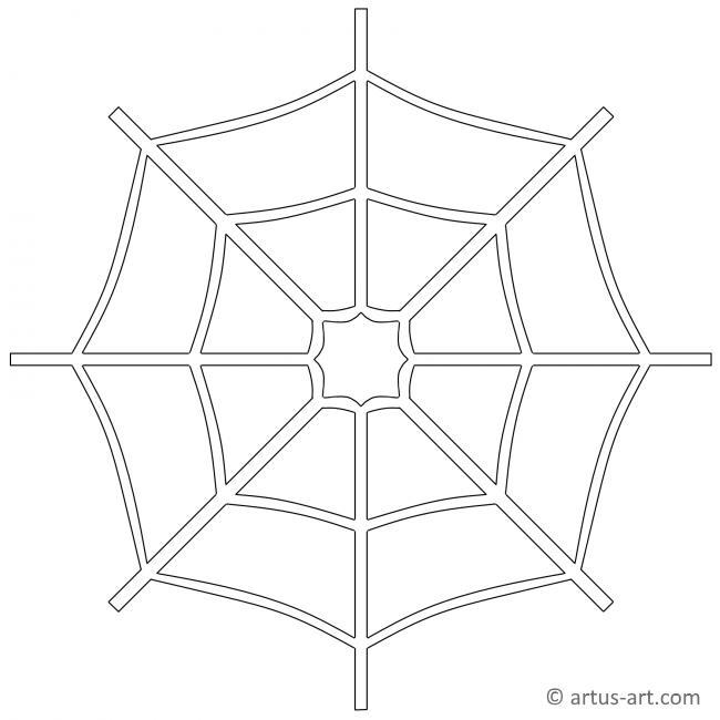 spinnennetz ausmalbild » gratis ausdrucken  ausmalen