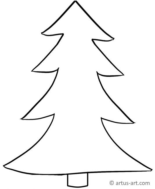 Einfacher Tannenbaum Ausmalbild