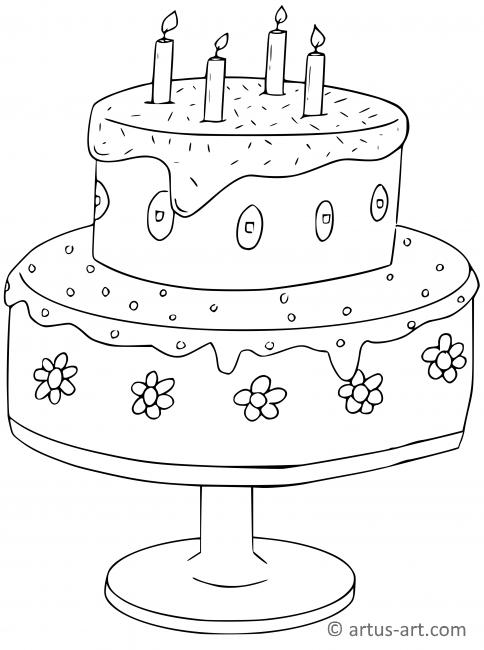 Torte Coloring Page