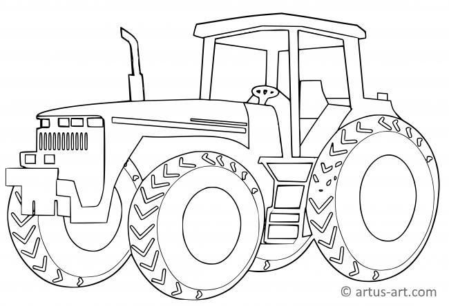 Bauernhof Traktor Ausmalbild Gratis Ausdrucken Ausmalen