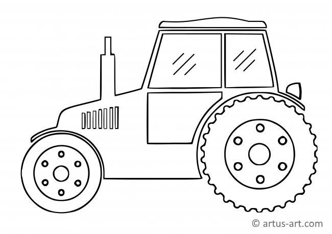 einfacher traktor ausmalbild » gratis ausdrucken