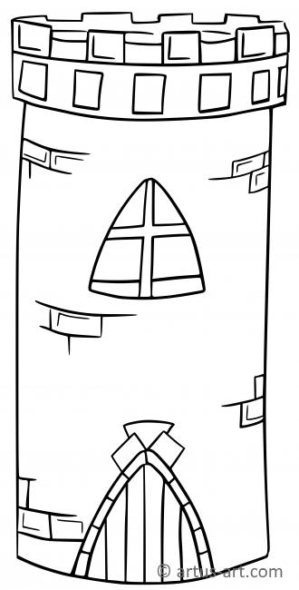 Tower Coloring Page