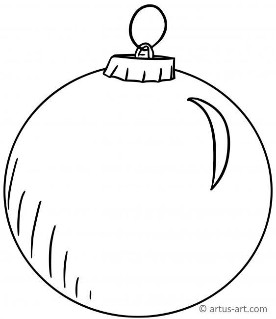weihnachtskugel ausmalbild » gratis ausdrucken  ausmalen