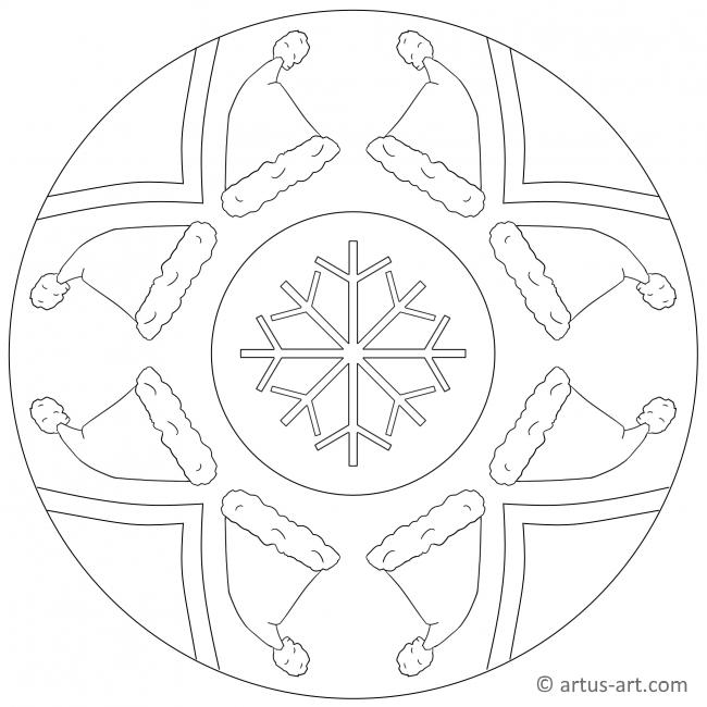 Weihnachtsmütze Mandala