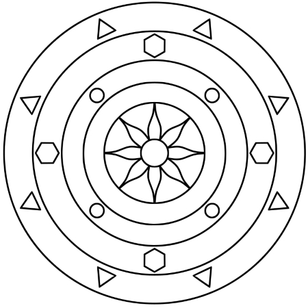 Einfaches Mandala Sonne