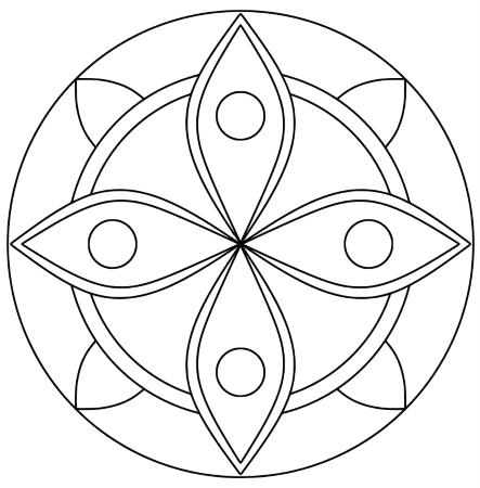Einfaches Augen Mandala