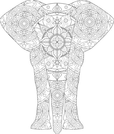 Elephant Mandala in Elephant Shape