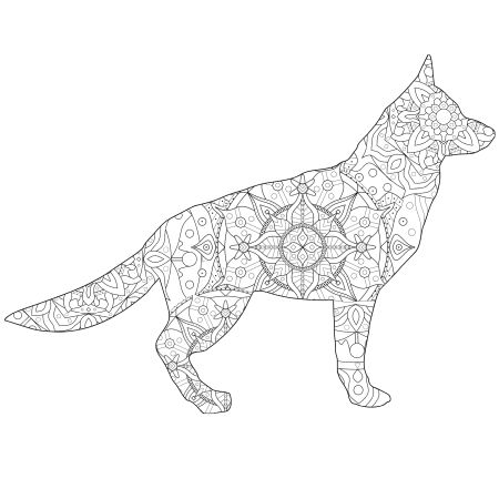 Dog Shape Mandala