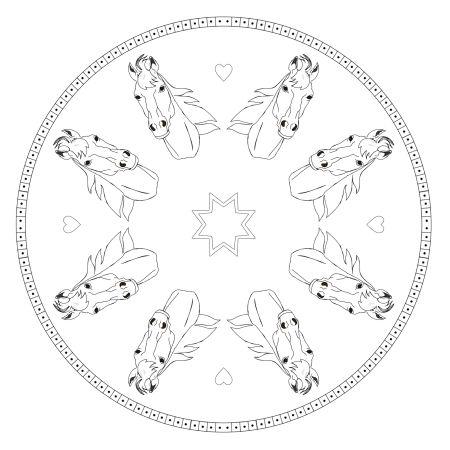 Pferdekopf Mandala