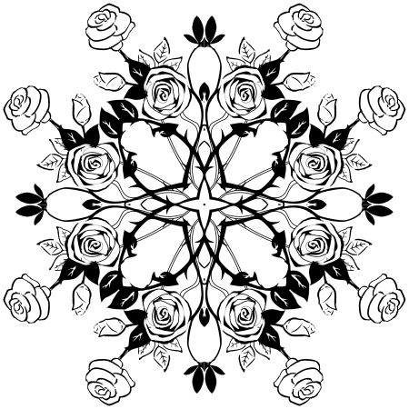 Rose Tendrill Mandala