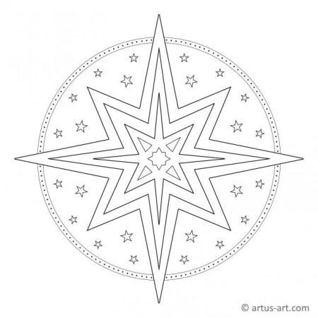 Weihnachtsstern Mandala