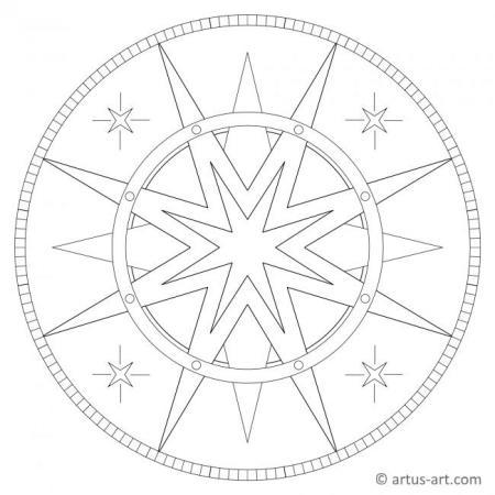 Star with Circle Mandala