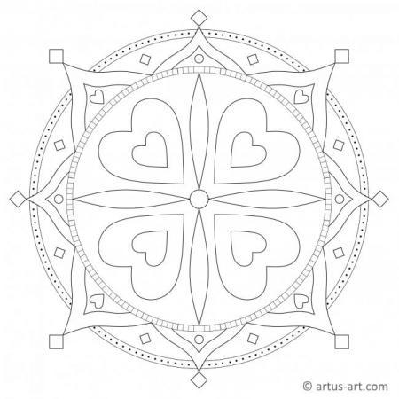 Love Heart Mandala