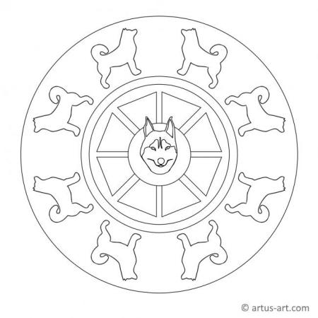 Husky Mandala