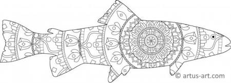Fish Shape Mandala