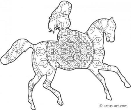 Pferde Mandalas