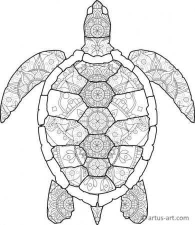 Turtle Shape Mandala