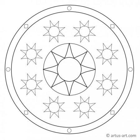 Classic Sun Mandala