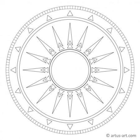 Ägyptisches Sonnensymbol