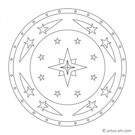 Sternschnuppe Mandala