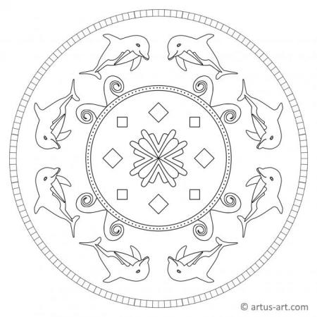 Simple Dolphin Mandala