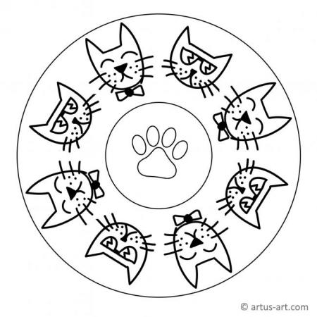 Cool Kitten Mandala